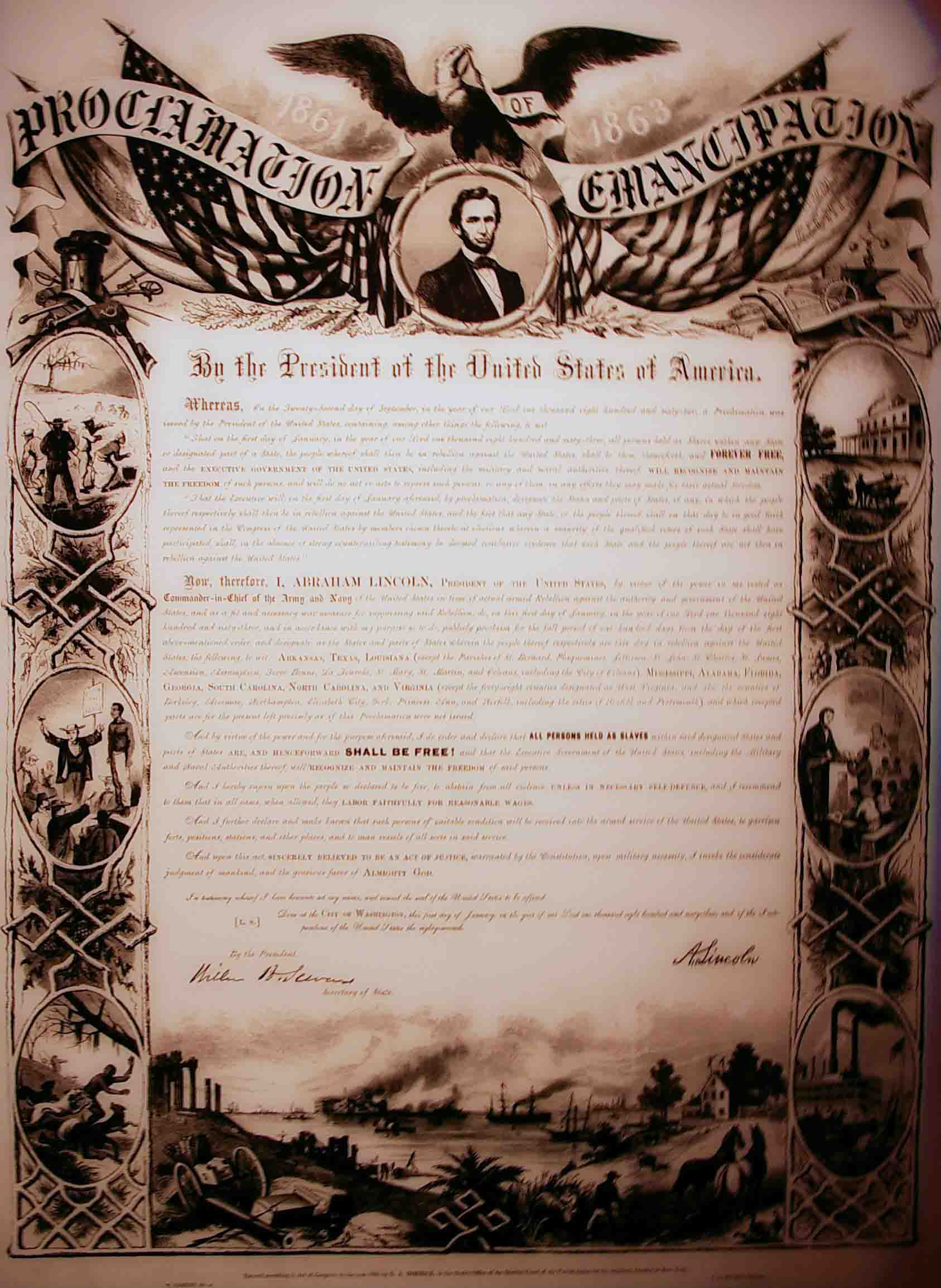 an introduction to the history of the emancipation proclamation Emancipation proclamation detail of a photograph taken at mathew brady's  gallery in washington, dc, 1862 courtesy library of congress abraham  lincoln.